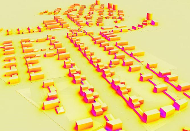 Cartographie du rayonnement solaire  - Densification de la Cité de l'Air, Athis Mons