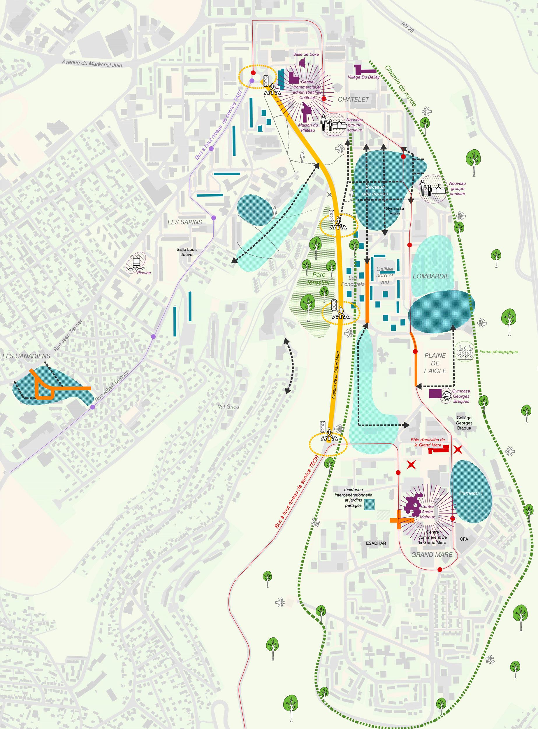 Schéma Directeur à l'échelle des Hauts de Rouen  - Renouvellement urbain des Hauts de Rouen