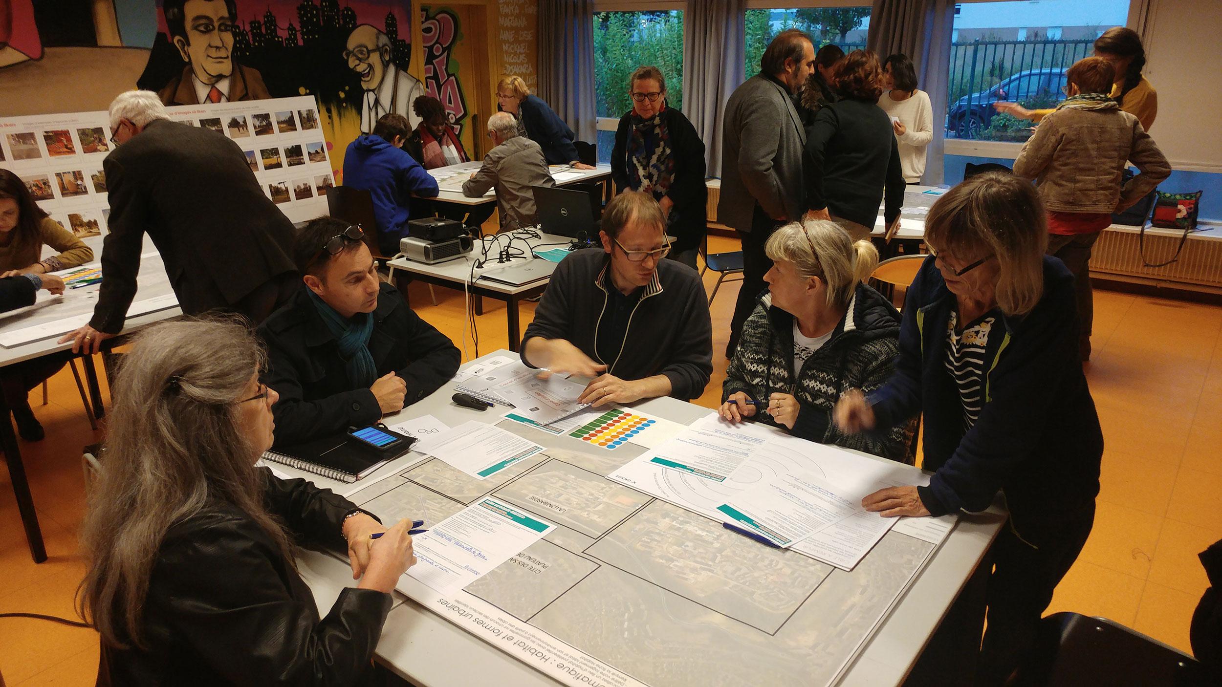 Atelier de concertation  - Renouvellement urbain des Hauts de Rouen