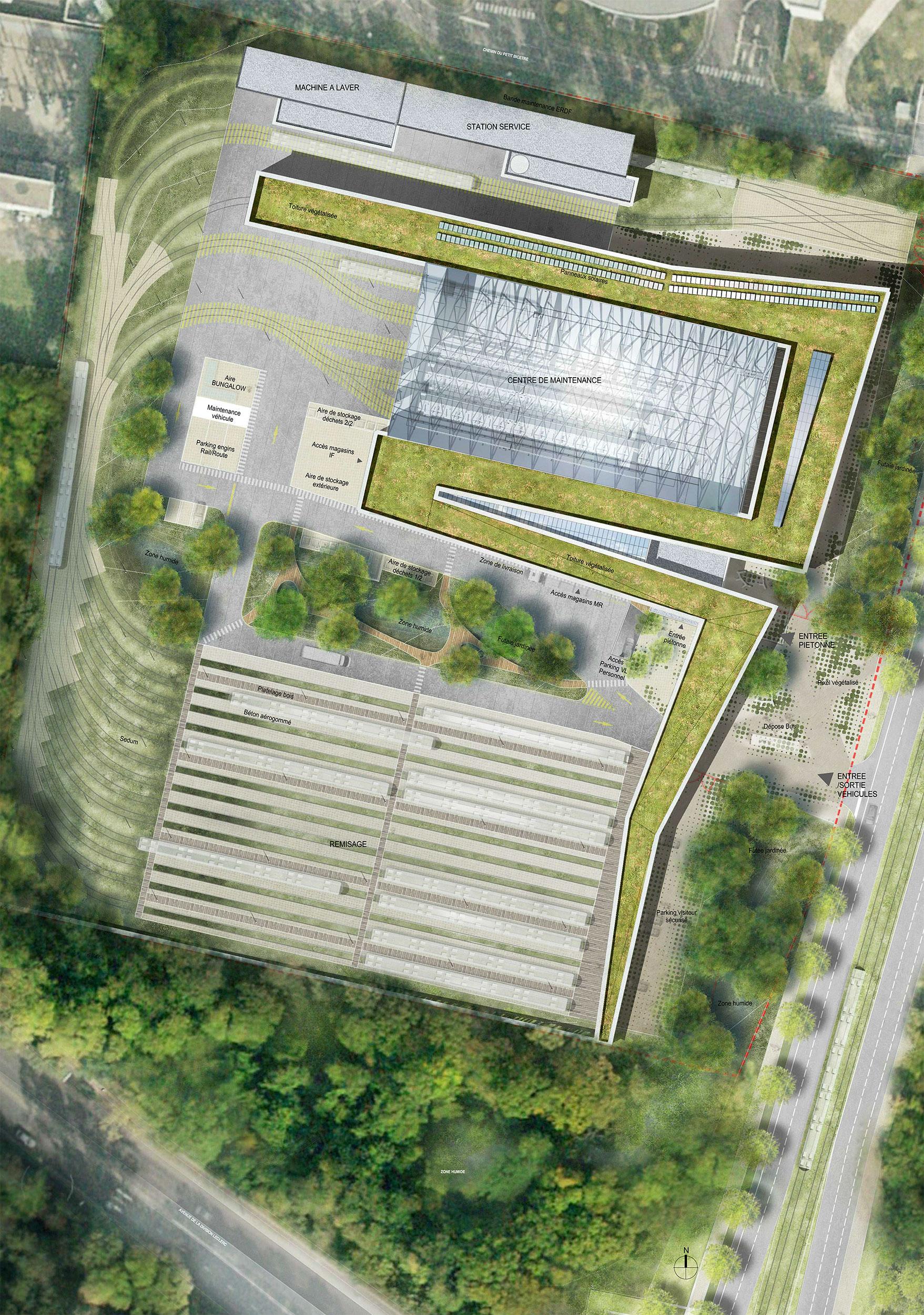 - Site de Maintenance et de Remisage LigneT10, Châtenay-Malabry