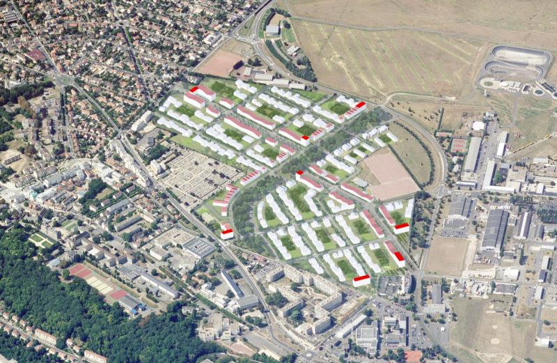 Vue aérienne  - Densification de la Cité de l'Air, Athis Mons