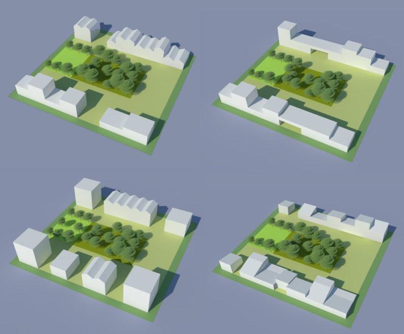 Typologies d'ilots  - Densification de la Cité de l'Air, Athis Mons