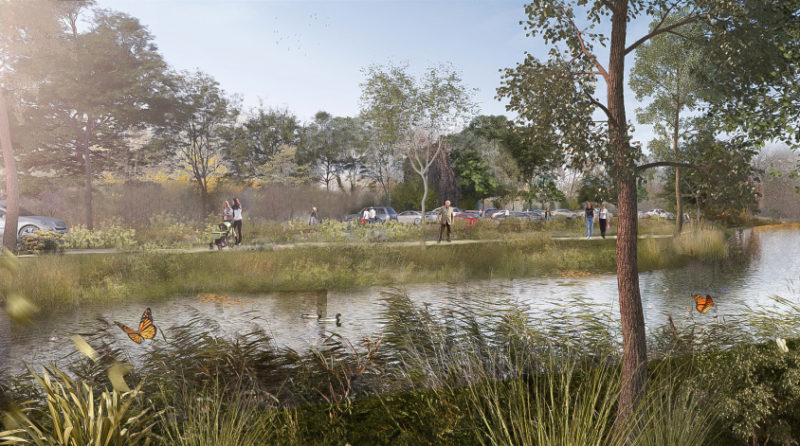 Le projet vue du Loir  - Aménagement en site inscrit au bord du Loir, Vendôme