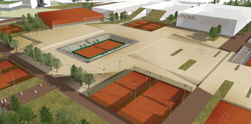 Espace d'agéments nivelés entre les programmes tennistiques  - Linkong area et club Roland Garros, Wuhan